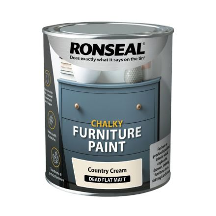 Ronseal Chalky Furniture Paint - Country Cream750ml